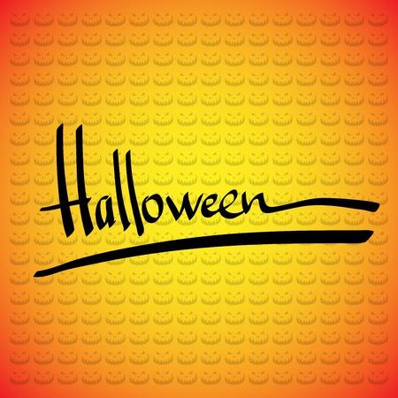 Halloween vector frame  Hand lettering