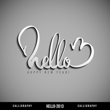 Hello 2013 hand lettering   Happy new year