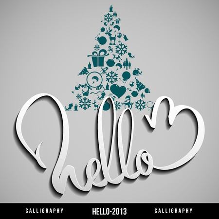 salutations: Hello 2013 hand lettering   Happy new year