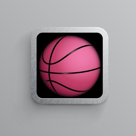 basketball goal black  web icon