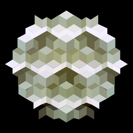 hexagon kaleidoscope optical illusion  Vector
