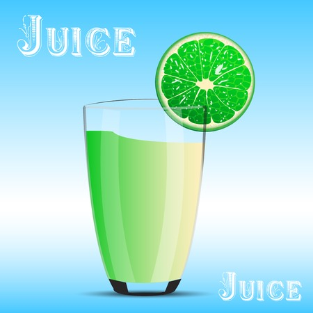 Fresh fruit and juice  Vector illustration  Illustration