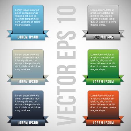 colorful web designing  elements  vector Illustration