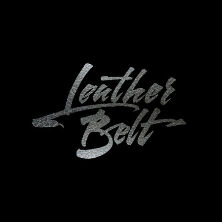 Leather belt calligraphy Illustration