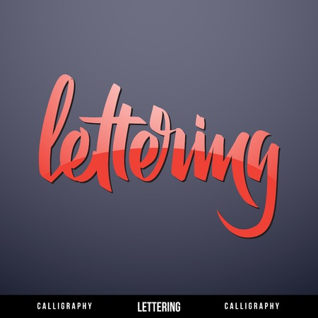 locution: Lettering
