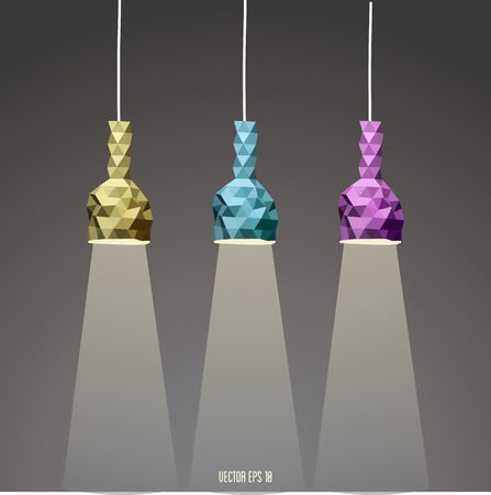 Abstract Lamp set,  vector illustration