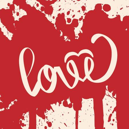 Lettering LOVE  For themes like Mother Illustration