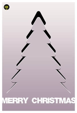 Christmas tree applique vector  background  Postcard Illustration