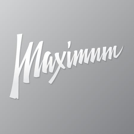 Maximum calligraphy