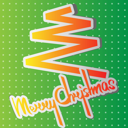 Merry Christmas calligraphy Illustration