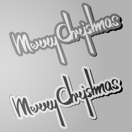 Merry Christmas calligraphy Illustration