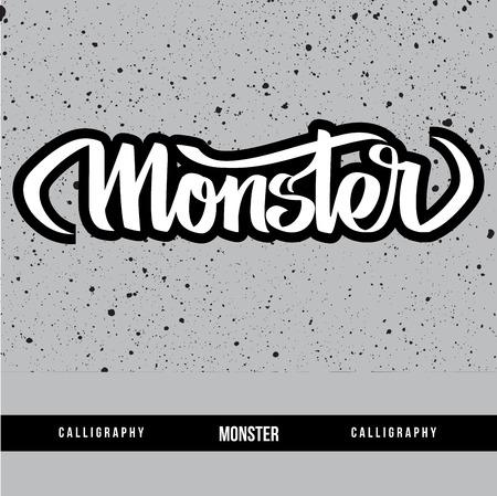 Monster calligraphy