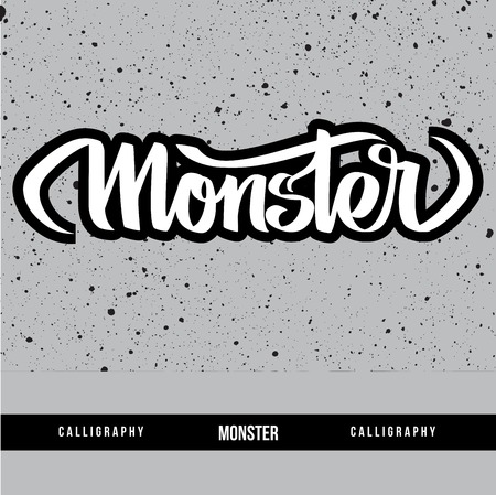 locution: Monster calligraphy