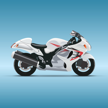 Vector motorcycle on blue background  vector Vector
