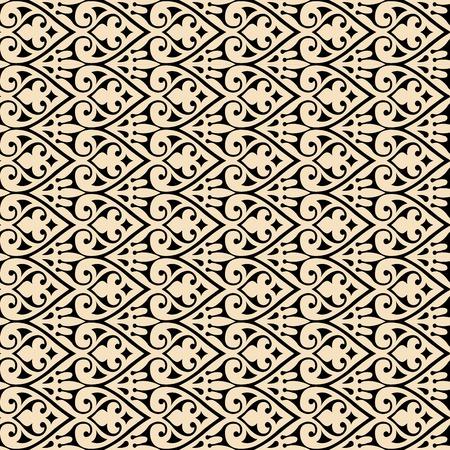 Vector vintage baroque background frame card cover flower motif arabic retro pattern ornate lace Illustration