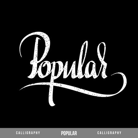 acknowledgment: POPULAR Vector Lettering  Calligraphy for business