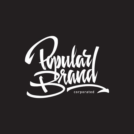 locution: Popular brand hand lettering -  handmade calligraphy, vector