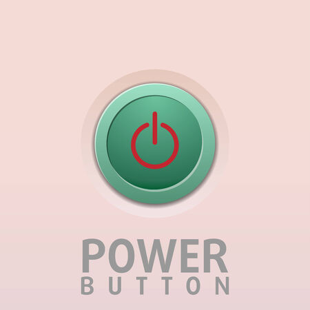 Power Button with white background Illustration