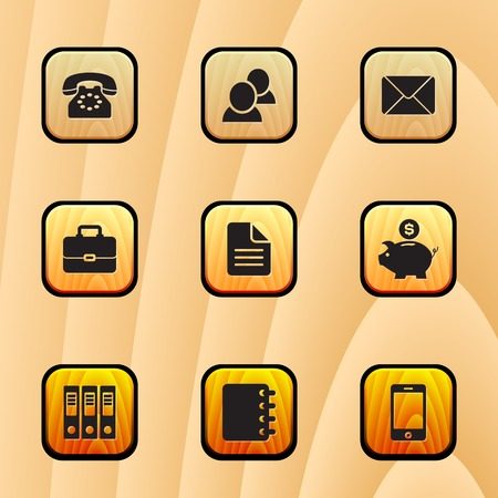 Set Business  icon in vector Vector