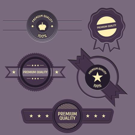 Premium Quality and Guarantee Labels Illustration