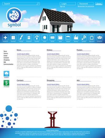 Web site design template, vector background