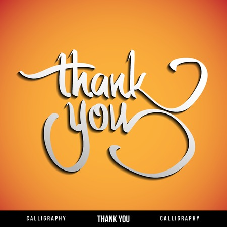 Lettering THANK YOU  For themes like Mother Illustration