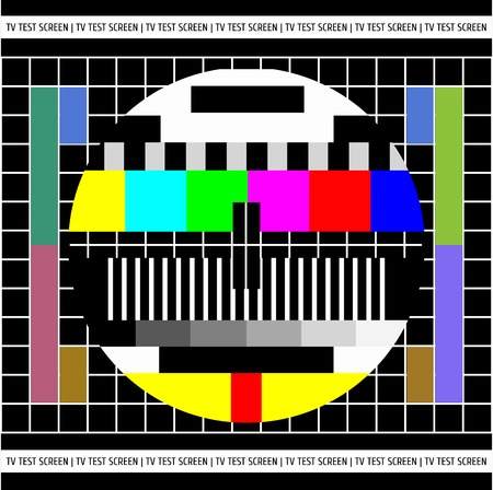tv screen: Test TV screen  Vector background