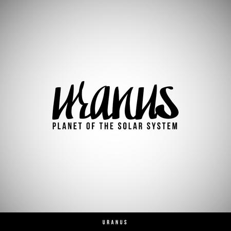 uranus: Uranus hand lettering -  handmade calligraphy, vector Illustration