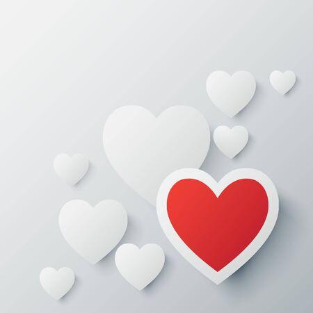 Liefde achtergrond Stock Illustratie