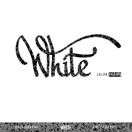 cordial: White you hand lettering - handmade calligraphy, vector