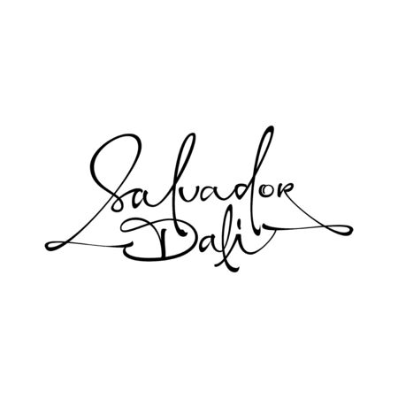 The Salvador Dali logo lettering Illustration