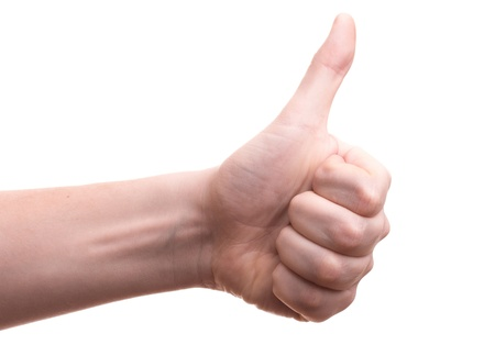 Hand with thumb up Stock Photo - 18047867