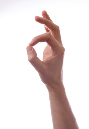 Ok. Gesture of the hand on white background Stock Photo - 18297995
