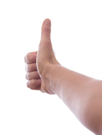 Hand with thumb up, ok, super Stock Photo - 18297999