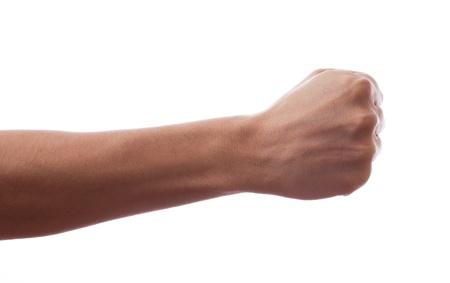Eine Hand griff in seiner Faust