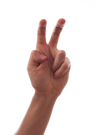 Two fingers are slightly bent Stock Photo - 18297948