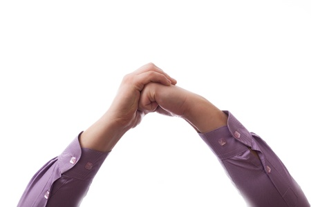 Hands clasped together for a prayer Stock Photo - 18297987