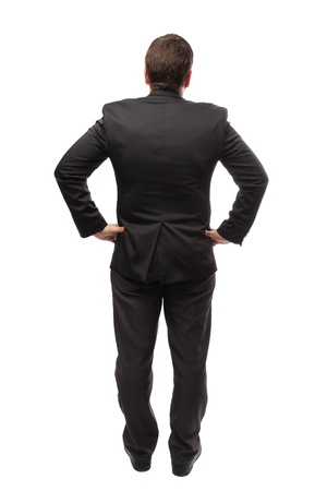 stylishly: Back view of stylishly dressed Stock Photo