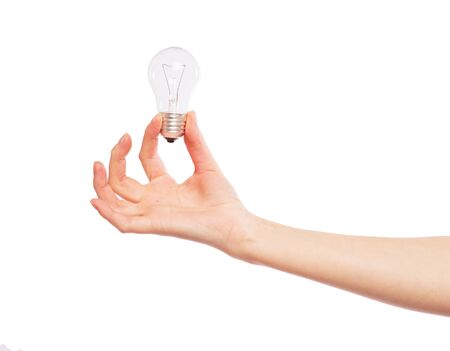 Light bulb in hand photo