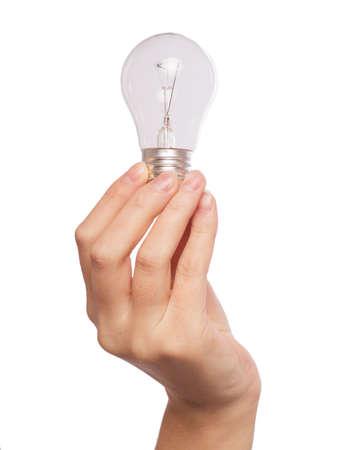 Light bulb in hand photo