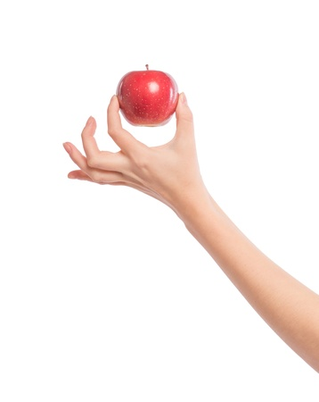 Apple in a female hand photo