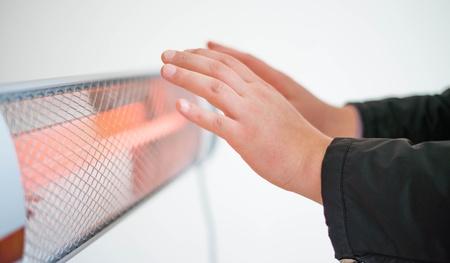 His hands heater