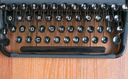 Keyboard old printing machine photo