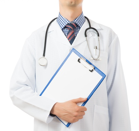 prognosis: Doctor writing down prognosis on medical chart