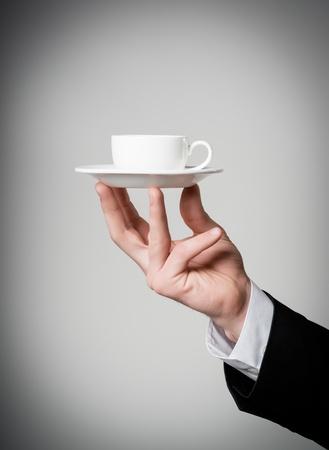 businesswoman drinking coffee photo
