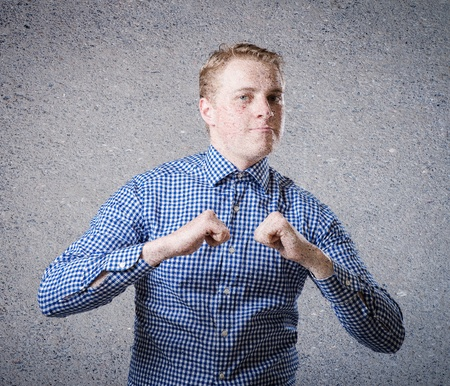Success in business - Happy business man showing thumbs up Stock Photo - 19767708