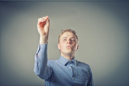 conducting: Man conducting Stock Photo