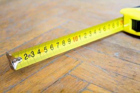 tape-measure on the floor