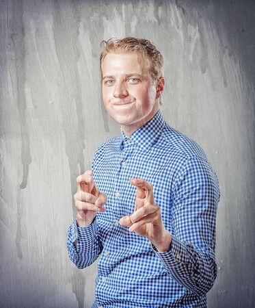 crazy young businessman photo
