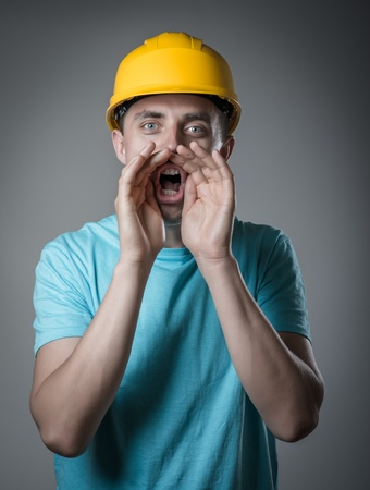 worker in helmet cry Stock Photo - 20666650